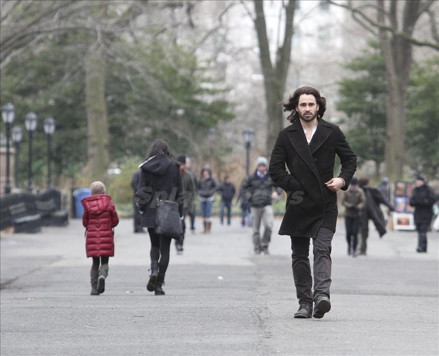 Jennifer Connelly and Colin Farrell seen on the set of 'Winters Tale'