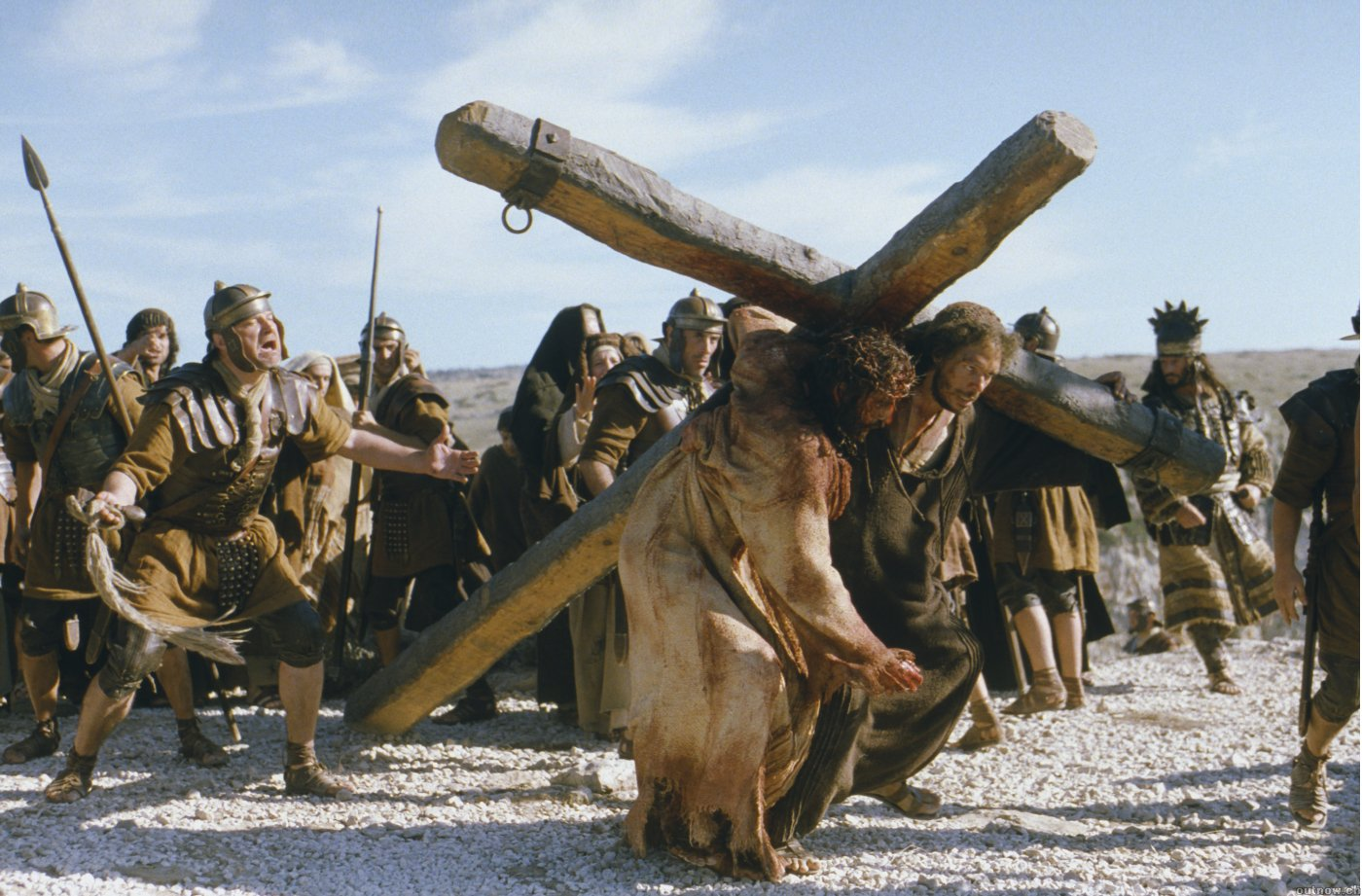 passion of the christ movie bearing cross easter jesus
