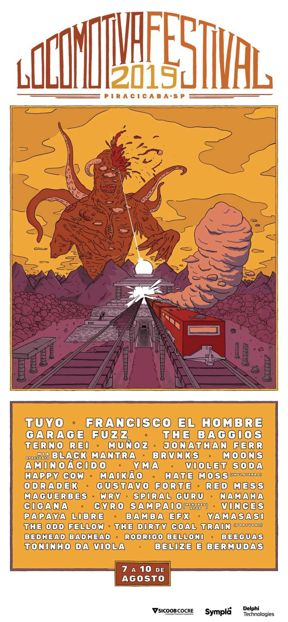Revelado lineup com 38 atrações do Locomotiva Festival | The Baggios | Revista Ambrosia